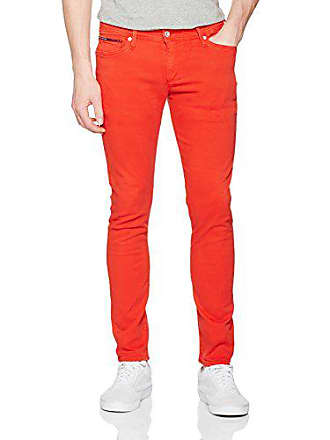 53cd31c83fbde Tommy Jeans Hombre SKINNY SIMON STRETCH PANT 19 Pantalones skinny Rojo  (High Risk Red)