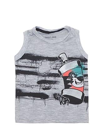 Tigor T. Tigre Camiseta Tigor T. Tigre Menino Estampa Frontal Cinza