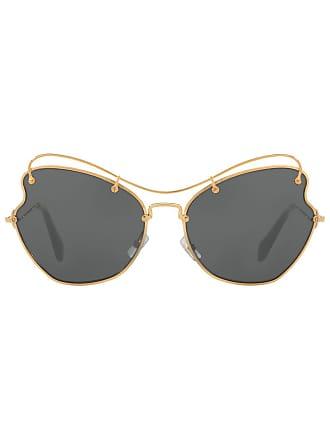757a220f1fda3 Miu Miu Eyewear Óculos de sol arredondado - Preto