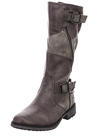 9ffcaea6502b Mustang 1265-507 Schuhe Damen Stiefeletten Stiefel, Schuhgröße 40 Farbe Grau