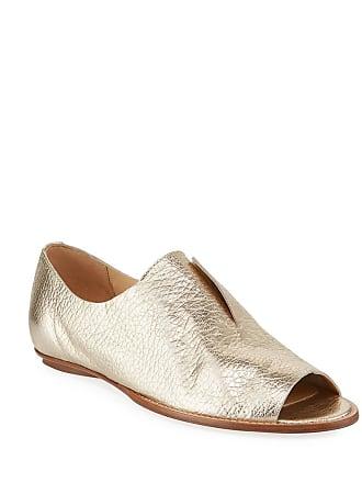 6185c6e1914ef Sesto Meucci Gert Metallic Leather Open-Toe Loafers
