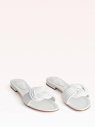 Alexandre Birman Vicky Flat Slide - 35.5 White Capreto Leather