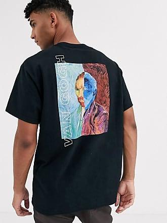 Reclaimed Vintage van gogh t-shirt in black