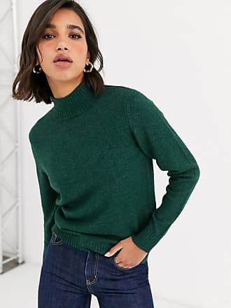 Vila knitted turtle neck jumper-Green