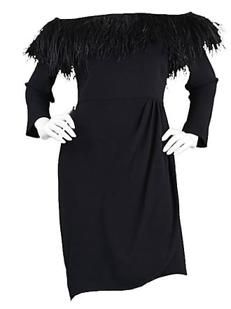 Valentino 1980s Ostrich Feather Little Black Dress