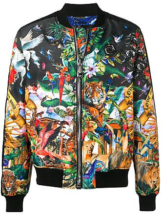 Philipp Plein jungle print bomber jacket - Black