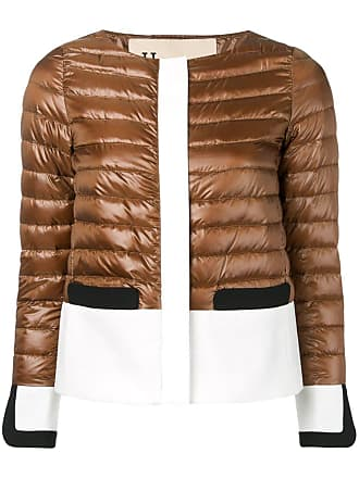 Herno panelled puffer jacket - Brown