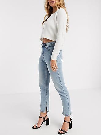 Pimkie straight fit jean with split hem in blue
