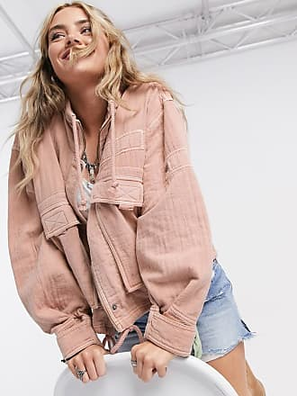 Free People Eyes On You pocket detail surplus jacket in pink