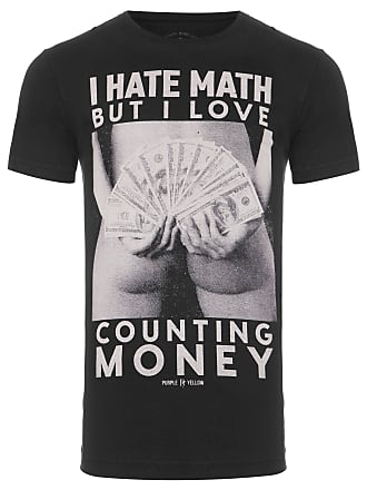 PURPLE YELLOW CAMISETA MASCULINA COUNTING MONEY - PRETO