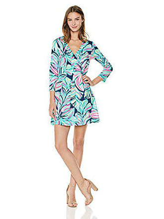 Lilly Pulitzer Womens Long Sleeve Amina Dress, high Tide Dancing Lady, XS