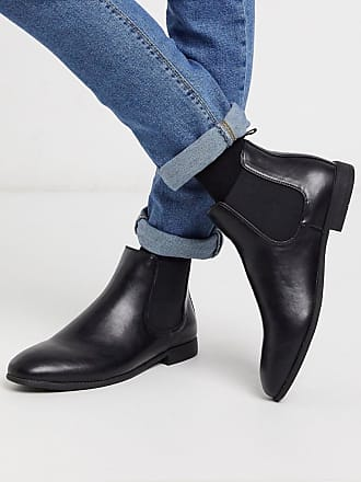 New Look PU chelsea boot in black