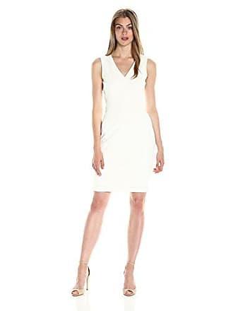 Calvin Klein Womens V-Neck Sheath Dress with Sheer Back Panel 9b579ee25