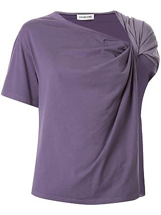 Ground-Zero Camiseta drapeada - Roxo