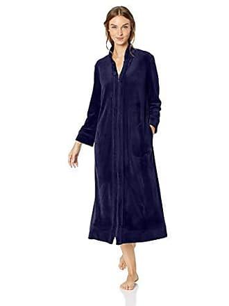 b79f666312 Carole Hochman Womens Luxe Velour Long Zip Robe