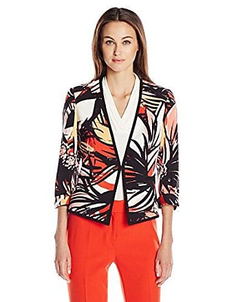 Kasper Womens Printed Twill Jacket, Paprika Multi, 6