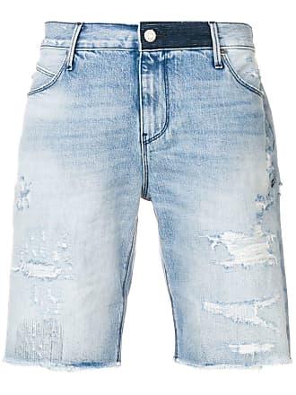 Rta Bermuda jeans desgastada - Azul