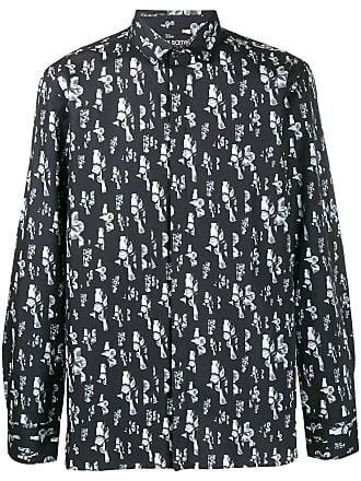 Neil Barrett Camisa com estampa floral - Azul