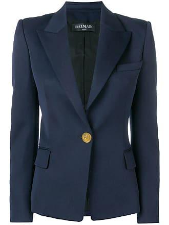 Balmain single breasted blazer - Blue