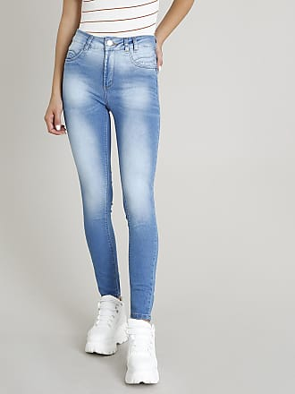 Sawary Calça Jeans Feminina Sawary Cigarrete Azul Médio