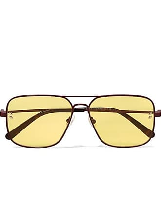 e6762011575b Stella McCartney Aviator-style Metal And Tortoiseshell Acetate Sunglasses -  Yellow