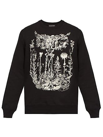 Alexander McQueen Alexander Mcqueen - Embroidered Skeleton Garden Cotton Sweatshirt - Mens - Black