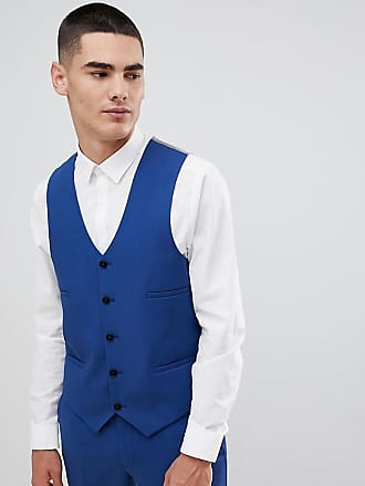 Noak super skinny suit vest in blue - Blue