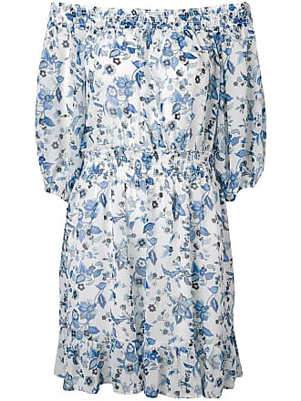 Liu Jo floral print off the shoulder dress - White