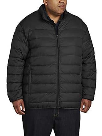 Amazon Essentials Mens Big & Tall Lightweight Water-Resistant Packable Puffer Jacket, Black, 2X Tall