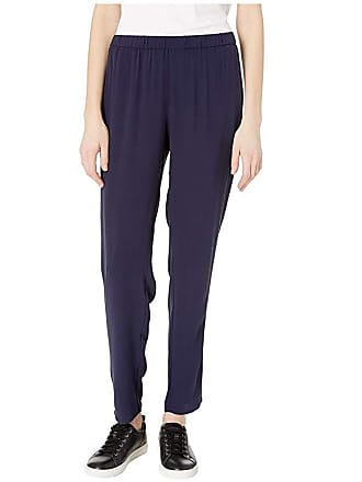 Eileen Fisher Slouchy Ankle Pants (Midnight) Womens Casual Pants