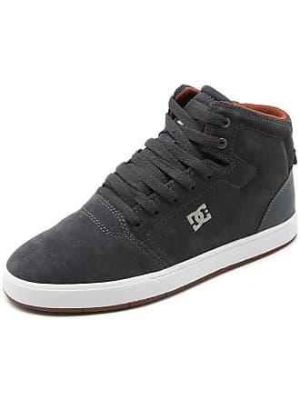 DC Tênis Couro DC Shoes Crisis High Cinza