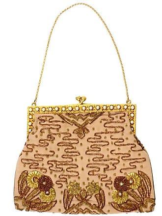 3a1b9f9462ed0e 1stdibs French Vintage Evening Bag Handbag Metallic Embroidery Beaded  Pearls Gold Silk