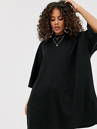 Asos Tall ASOS DESIGN Tall - Oversize-T-Shirt-Kleid-Schwarz