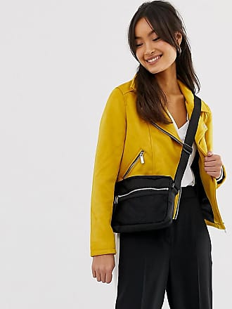 New Look Suedette Biker Jacket - Yellow