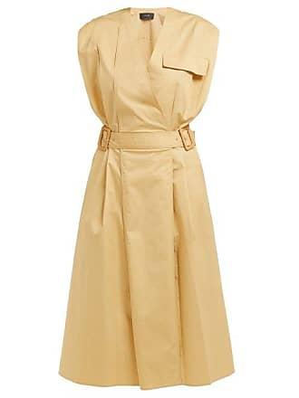 Joseph Logan Cotton Blend Midi Dress - Womens - Beige