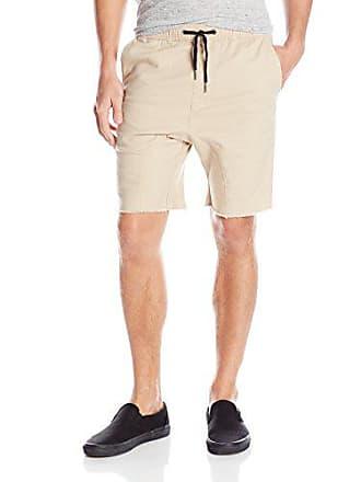 Zanerobe Mens Sureshot Cotton Stretch Everyday Shorts, Tan, 30 Inches