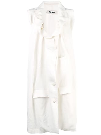 Uma Wang oversized midi jacket - White
