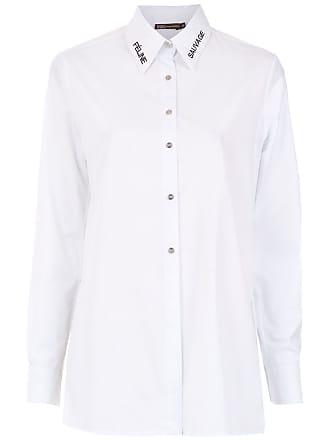 BO.BÔ Camisa com bordado - Branco