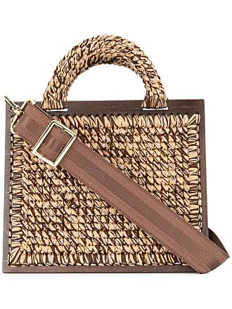 0711 St. Barts large woven handbag - Metallic
