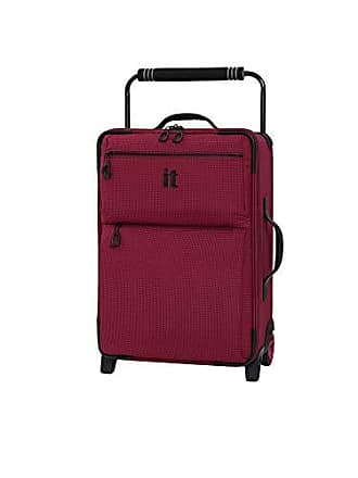 IT Luggage IT Luggage 21.8 Worlds Lightest Los Angeles 2 Wheel Carry On, Persian Red