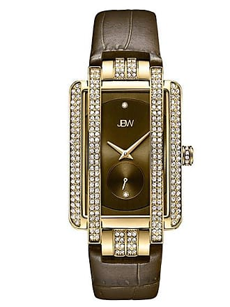 Zales Ladies JBW Mink Diamond Accent and Crystal 18K Gold Plate Strap Watch (Model: J6358L-A)