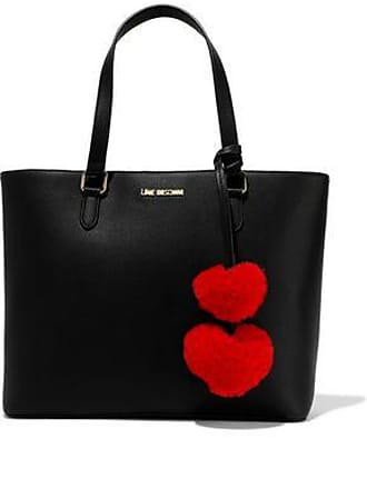 6361709351 Love Moschino Love Moschino Woman Pompom-embellished Faux Leather Tote  Black Size