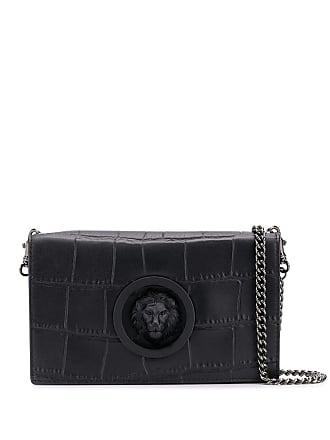 37925ca8d9 Versus Lion plaque crossbody bag - Black