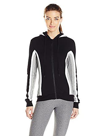 Trina Turk Recreation Womens Grey Scale Track Set Hooded Jacket, Black S