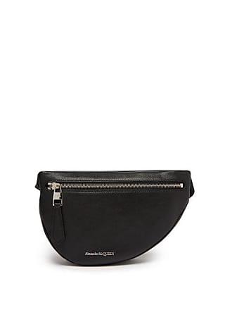 Alexander McQueen Alexander Mcqueen - Half Moon Leather Cross Body Bag - Mens - Black