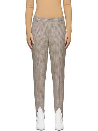 f26e319d7948b Givenchy Brown Wool Check Stirrup Trousers