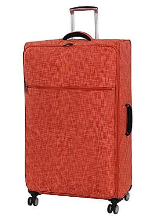 IT Luggage 34.4 Stitched Squares Lightweight Case, Orange