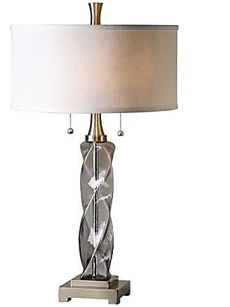 Uttermost 26634-1 Spirano Glass Table Lamp, Gray