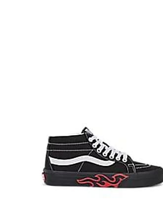 2ec33e7aee Vans Womens Sk8-Mid Canvas Sneakers - Black Size 10