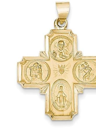 Quality Gold 14kt Gold Four-Way Medal Pendant